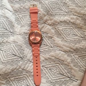Coral rubber watch